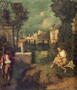 Giorgione THe Tempest oil painting