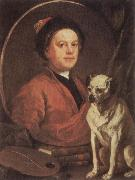 The Painter and his Pug, HOGARTH, William