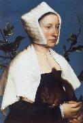 Portrait of a Lady with a Squirrel and a Starling, Hans holbein the younger