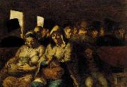The Third-class Carriage, Honore  Daumier