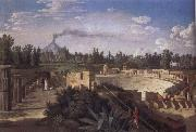 View of the Ruins of the Antique Theatre of Pompei, Jakob Philipp Hackert