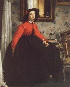 Portrait of Mill L L,Called woman in Red Vest, James Tissot