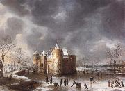 Jan Abrahamsz. Beerstraten The Castle of Muiden in Winter