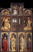 Jan Van Eyck The Ghent altar piece voltooid oil painting reproduction