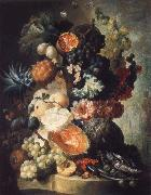 Fruit,Flwers and a Fish