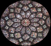 Rose window, northern transept, cathedral of Chartres, France