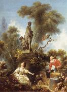 Jean Honore Fragonard The meeting, from De development of the love oil painting on canvas