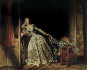 Jean Honore Fragonard The Stolen Kiss oil painting reproduction