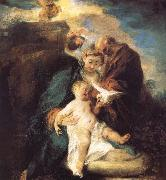 The rest in the flight to Egypt, Jean antoine Watteau