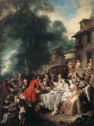 Jean-Francois De Troy A Hunting Meal oil painting reproduction