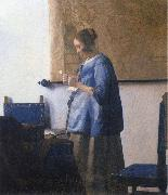 Woman Reading a Letter, Johannes Vermeer
