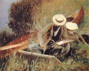 Paul Helleu Sketching with his wife, John Singer Sargent
