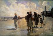 THe Oyster Gatherers of Cancale, John Singer Sargent