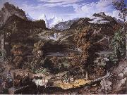 Joseph Anton Koch Swiss Landscape oil painting reproduction