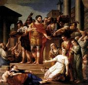 Joseph Marie Vien Marcus Aurelius Distributing Bread to the People oil painting reproduction