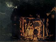 The Blacksmith-s shop, Joseph wright of derby