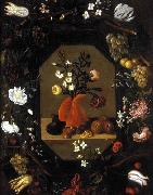 Juan de  Espinosa Still-Life with Flowers with a Garland of Fruit