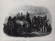 Karl Bodmer The Travelers meeting with Minnetarree indians near fort clark oil painting
