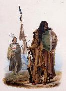 Karl Bodmer Assiniboin Indians oil painting