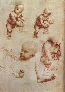 Drawing of an Infant, LEONARDO da Vinci