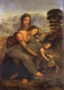 Maria with Child and St. Anna, LEONARDO da Vinci