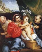 The Virgin and Child with Saint Jerome and Saint Nicholas of Tolentino