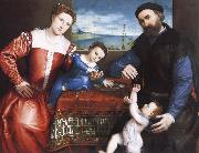 Giovanni della Volta with His Wife and Children, Lorenzo Lotto