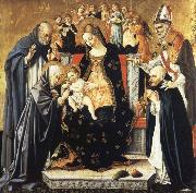 Lorenzo di Alessandro da Sanseverino The Mystic Marriage of Saint Catherine of Siena oil painting artist