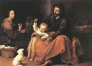 The Holy Family with a Bird, MURILLO, Bartolome Esteban