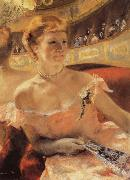 Woman with a Pearl Necklace in a Loge for an impressionist exhibition in 1879