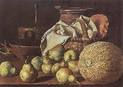 Still-Life with Melon and Pears, Melendez, Luis Eugenio