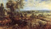 An Autumn Landscape with a View of Het Steen in the Earyl Morning, Peter Paul Rubens