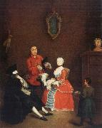 Pietro Longhi Visit of the Bauta oil painting
