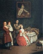 Pietro Longhi The Hairdresser and the Lady oil painting