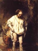 A Woman Bathing in a Stream, REMBRANDT Harmenszoon van Rijn