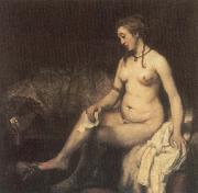 Bathsheba Bathing with King David-s Letter, REMBRANDT Harmenszoon van Rijn