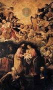 ROELAS, Juan de las Adoration of the Name of Jesus oil painting