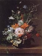 Rachel Ruysch Flowers in a Vase oil painting reproduction