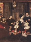 Rowland Lockey Sir Thomas More and his family oil painting
