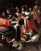 Rutilio Manetti Wedding Feast at Cana oil painting