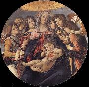 The Madonna and the Nino with angeles, Sandro Botticelli