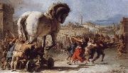 The Building of the Trojan Horse The Procession of the Trojan Horse into Troy, TIEPOLO, Giovanni Domenico