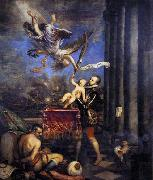 Philip II Offering Don Fernando to Victory, TIZIANO Vecellio