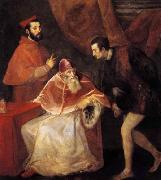 Pope Paul III with his Nephews Alessandro and Ottavio Farnese, TIZIANO Vecellio
