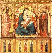 Taddeo di Bartolo Virgin and Child with St John the Baptist and St Andrew oil painting