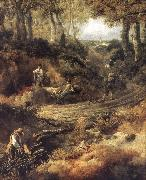 Thomas Gainsborough Detail of Cornard Wood oil painting reproduction
