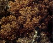 Detail of Landscape with a Peasant on a path, Thomas Gainsborough