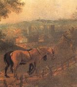 Detail of Landscape with a Woodcutter courting a Milkmaid, Thomas Gainsborough