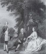 Jonathan Tyers with his daughter and son-in-law,Elizabeth and John Wood, Thomas Gainsborough