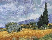 A Wheatfield,with Cypresses, Vincent Van Gogh